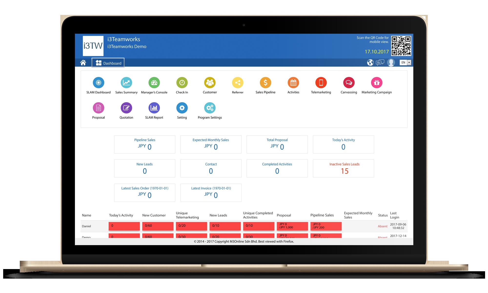 Sales Lead & Activity Management Module